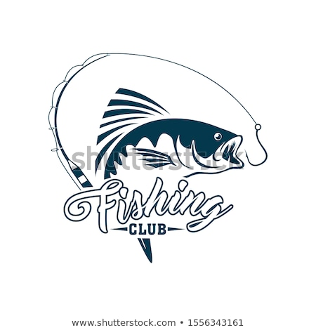Pescador caña de pescar peces vector icono pesca Foto stock © robuart