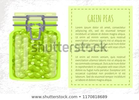 Groene glas jar clip cap Stockfoto © robuart