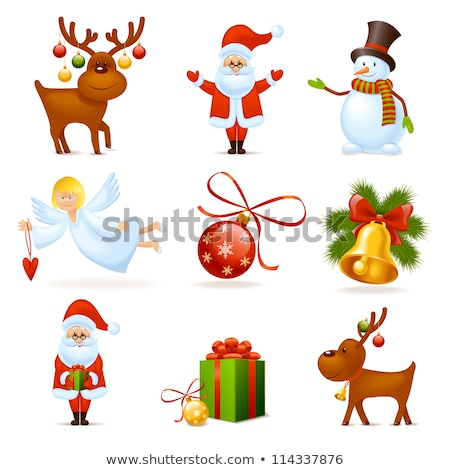 Christmas Cartoon Icon - Bow Ball Stock photo © nazlisart