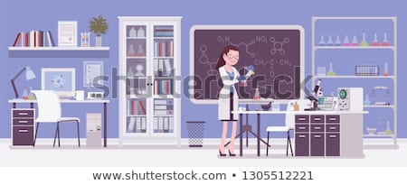 wetenschapper · cartoon · hoogleraar - stockfoto © krisdog