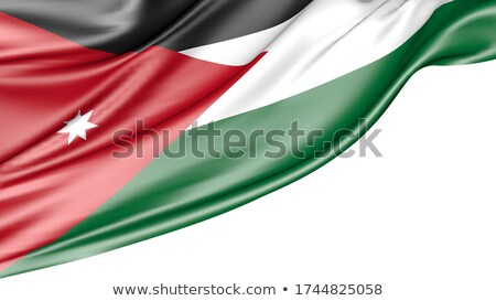 Сток-фото: флаг · изолированный · белый · Иордания · оказывать