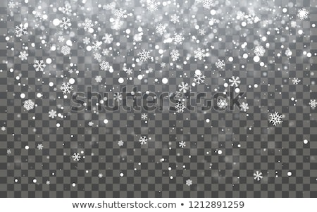 Christmas snow. Falling snowflakes on dark background. Snowflake transparent decoration effect. Xmas Stock photo © olehsvetiukha