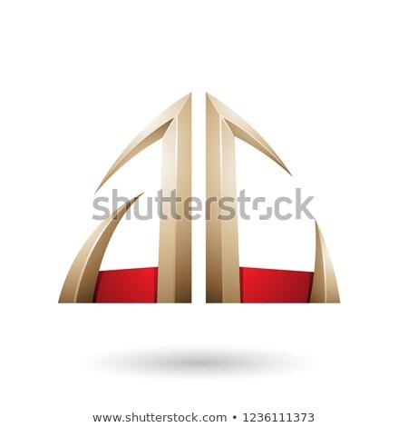 Vermelho bege seta letra c vetor Foto stock © cidepix