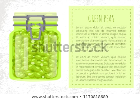 Green Peas Preserved Food in Unlabeled Glass Jar Stock photo © robuart