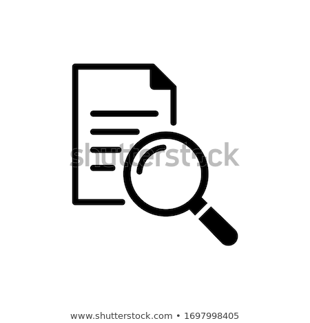 Office Paper and Magnifying Glass Icons Set Vector Stock photo © robuart