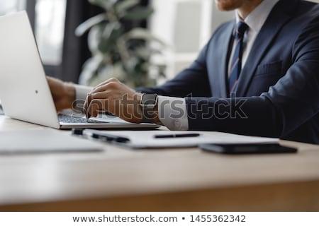 Advogado trabalhando escritório lei martelo juiz Foto stock © Elnur