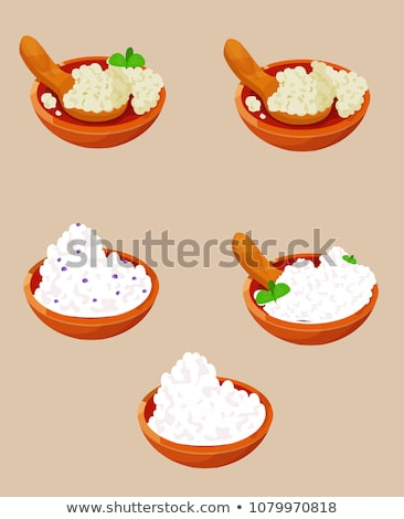 Cottage Cheese in Bowl Icon Vector Illustration Stock photo © robuart