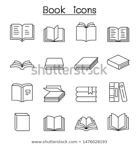 bookstore logo library icon vector book symbol Stock photo © blaskorizov