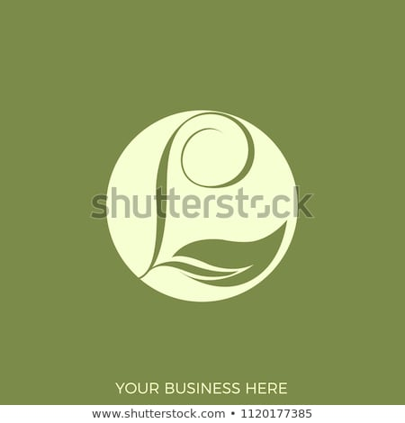 green leaves l logo letter circle icon Stock photo © blaskorizov