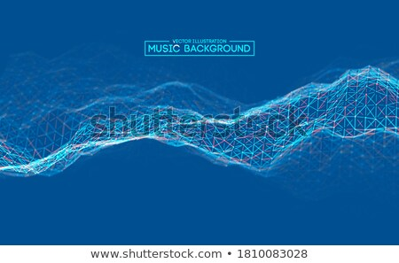 music background vector dj backdrop electromagnetic code 3d illustration stock photo © pikepicture