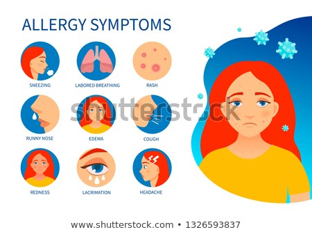 Allergy Symptoms and Food Allergens Vector Posters Stock photo © robuart