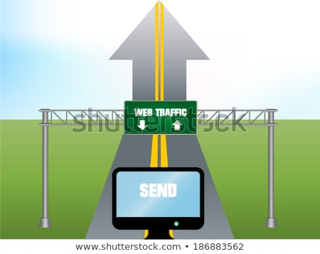 3d green road sign of www Stock photo © ribah