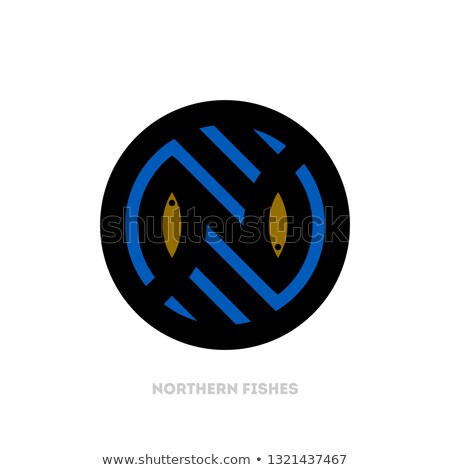 Modern logo şablon ikon balık Stok fotoğraf © ussr