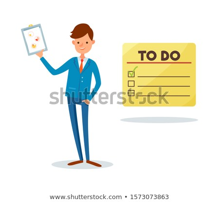 To do list man tonen pagina grafiek Stockfoto © robuart