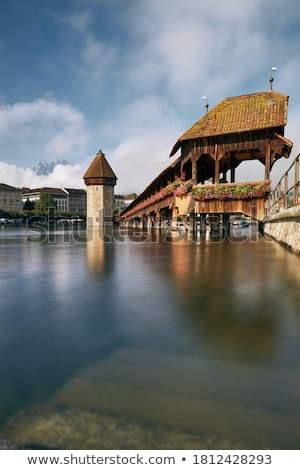 Lucerne lake waterfront and famous landmarks view stock photo © xbrchx