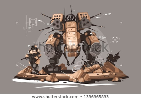 Drone escort infantry Stock photo © jossdiim