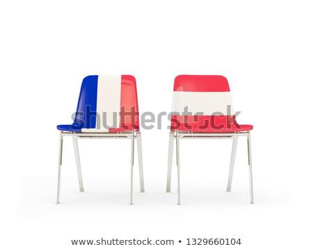 Dos sillas banderas Francia Austria aislado Foto stock © MikhailMishchenko