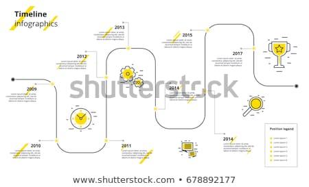 infografika · átló · idővonal · jelentés · sablon · vektor - stock fotó © orson