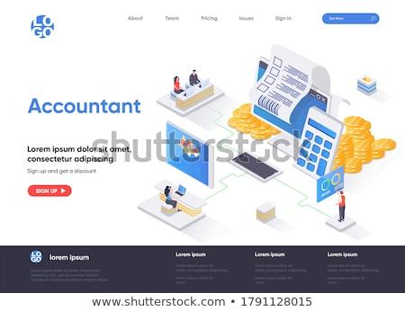 Income statement isometric 3D banner header. Stock photo © RAStudio