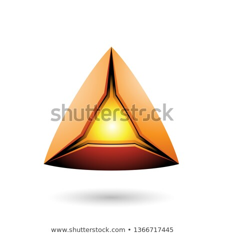 Orange Pyramid with a Glowing Core Vector Illustration Stock photo © cidepix