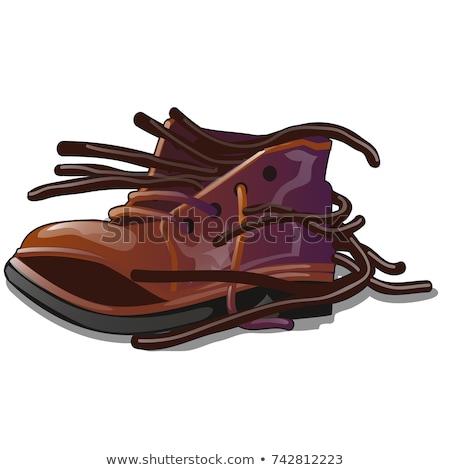 Velho marrom sapato solto isolado branco Foto stock © Lady-Luck
