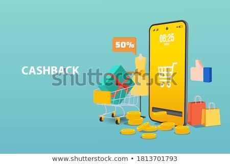 online shopping concept halftone isometric vector illustration stock photo © tashatuvango