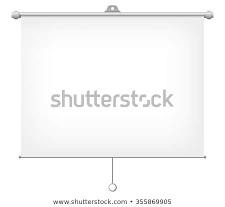 projector screen icon easel stand vector illustration isolated on white background stock photo © kyryloff
