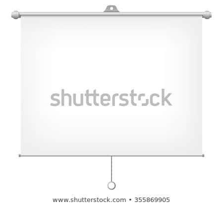 проектор экране икона мольберт стоять изолированный Сток-фото © kyryloff