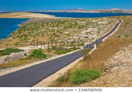 Kő sivatag díszlet sziget régió Horvátország Stock fotó © xbrchx