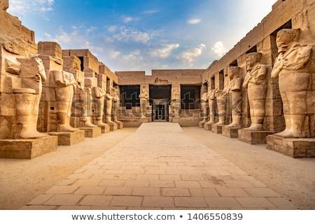 Luxor świątyni Błękitne niebo podpisania niebieski podróży Zdjęcia stock © Givaga
