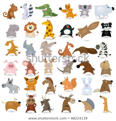 funny lemur cartoon animal character Stock photo © izakowski