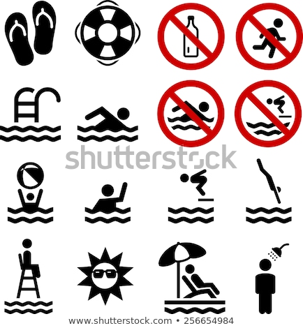 vector set of swimming pool stock photo © olllikeballoon