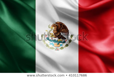 Mexican flag background with mexico culture icons Stock photo © cienpies