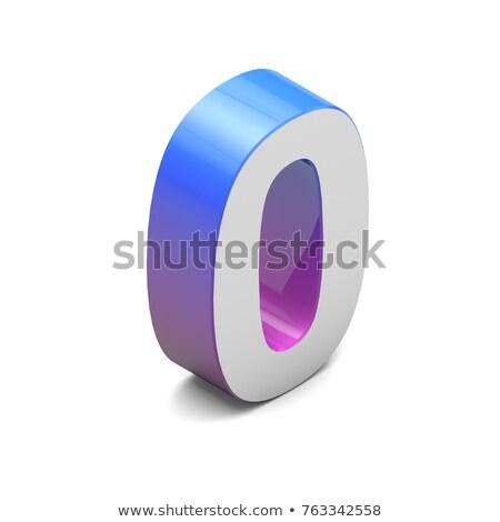 синий градиент числа нулевой 3D 3d визуализации Сток-фото © djmilic