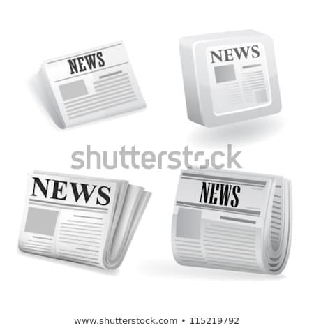 Sport újság ikon szürke átlátszó sportok Stock fotó © romvo
