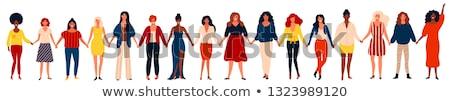 Internationaux groupe heureux femmes filles Photo stock © brahmapootra