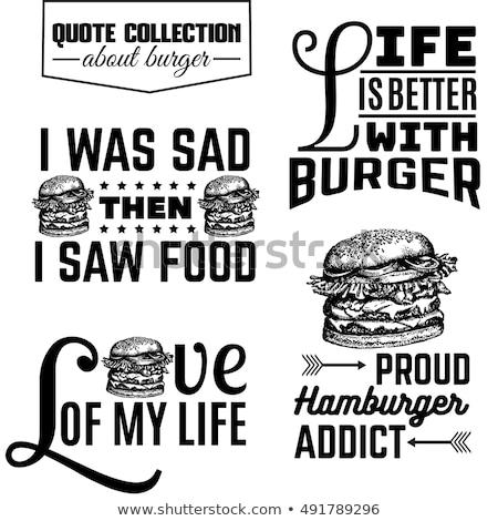 cartoon · cheeseburger · poster · gustoso · sesamo - foto d'archivio © hittoon