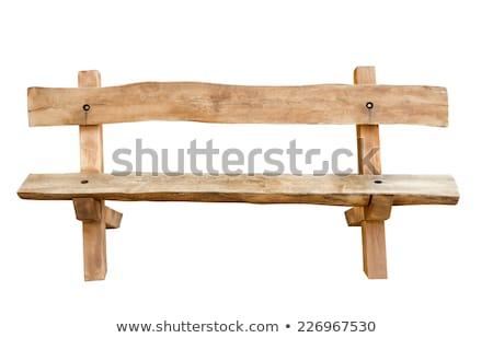Starożytnych ławce ogród kwiat Zdjęcia stock © Imaagio