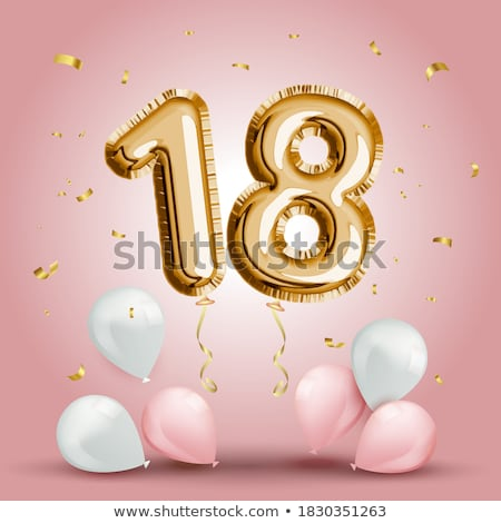 Eighteen Anniversary Celebration Number Vector Stock photo © pikepicture