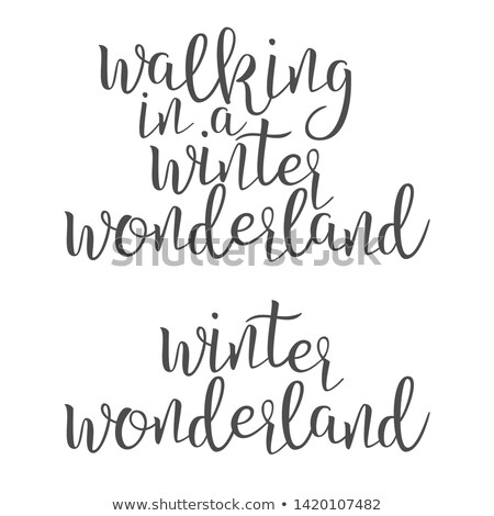 Funny Modern Calligraphy Of Wonderland Word Vector Stock photo © pikepicture