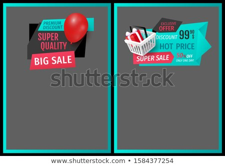 exclusive goods label gifts balloons price tags stock fotó © robuart