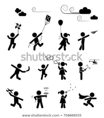 セット · 子供 · を実行して · 実例 · 幸せ · スポーツ - ストックフォト © colematt