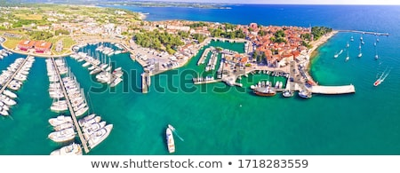 Novigrad Istarski historic coastal town aerial view Stock photo © xbrchx