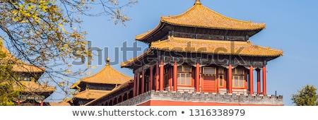 Ancient royal palaces of the Forbidden City in Beijing,China BANNER, LONG FORMAT Stock photo © galitskaya