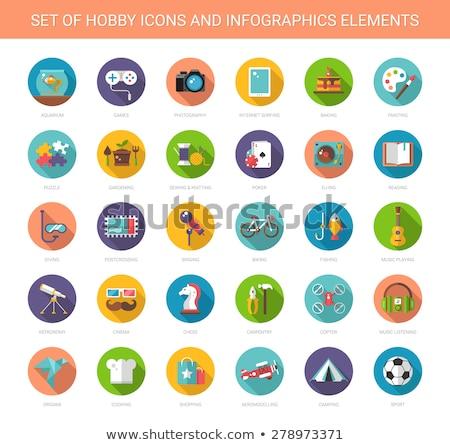 Hobby eps 10 sportu farby Zdjęcia stock © netkov1