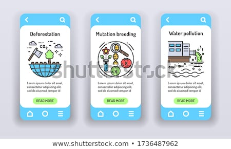 environmental problems vector onboarding stock photo © pikepicture