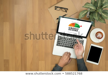 Geschäftsmann Kredit Punktzahl Computer jungen online Stock foto © AndreyPopov