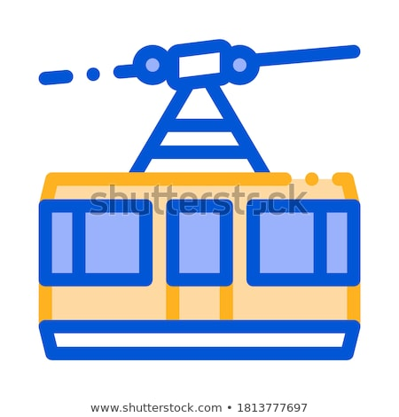 public transport aerial lift vector thin line icon stock photo © pikepicture