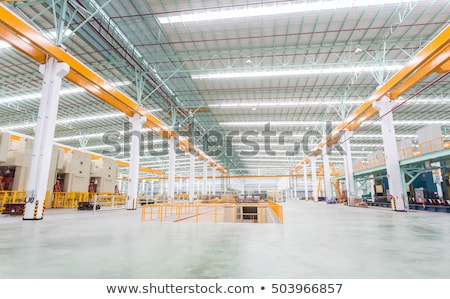 Workplace inside large modern manufacturing plant with processing equipment Stock photo © pressmaster