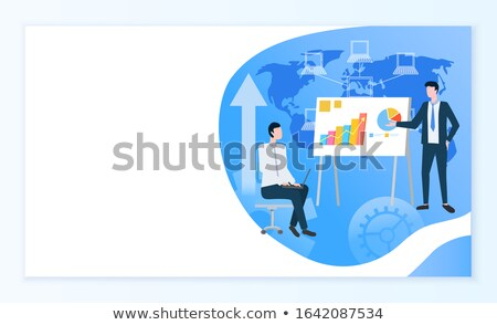 Business procede online info pagina vector Stockfoto © robuart